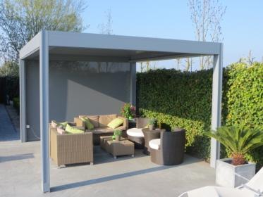 merev szerkezetes kerti árnyékoló